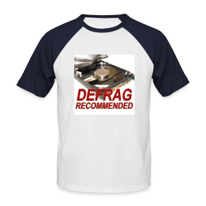 Defrag Recommended with red sleeves - Men's Baseball T-Shirt