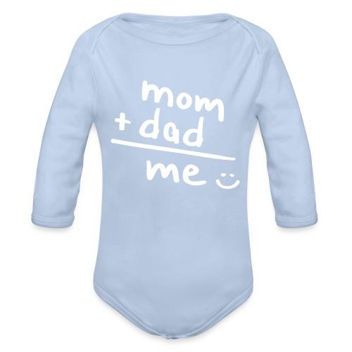 Babybody mom + dad - Ekologisk långärmad babybody