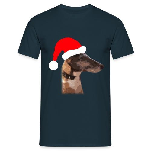 Weihnachtshund - Männer T-Shirt