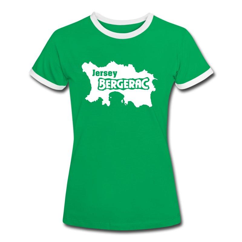 T-Shirt Jersey BERGERAC - Frauen Kontrast-T-Shirt