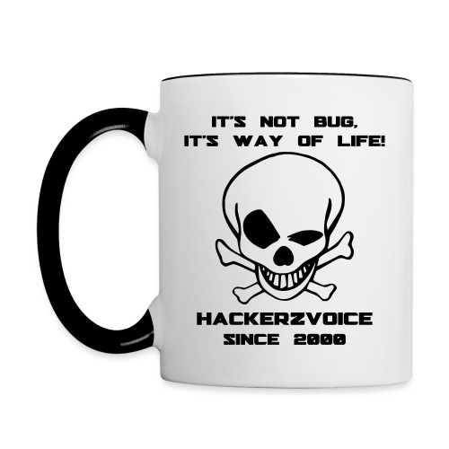 Black & White old skull - Contrasting Mug
