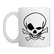 Mugs & Drinkware ~ Mug ~ Black & White old skull