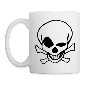 Black & White old skull - Mug