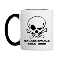 Mugs & Drinkware ~ Contrasting Mug ~ Black & White old skull