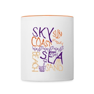 Coastal Illustration Mug - Contrasting Mug