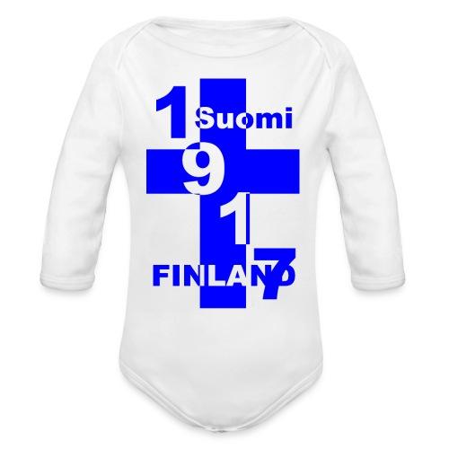 Suomi - Vauvan pitkähihainen luomu-body