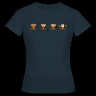 T-Shirts ~ Women's T-Shirt ~ 4 wise monkeys standard TS Woman