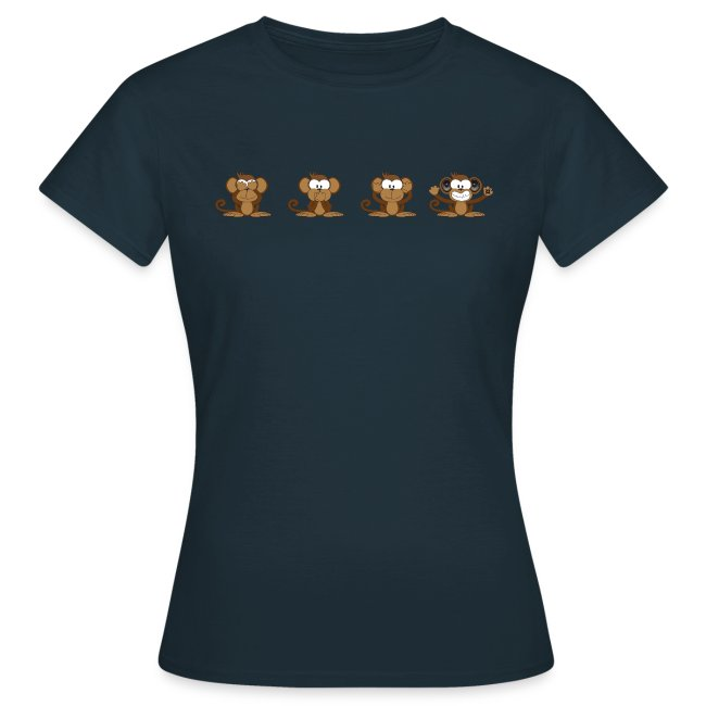 4 wise monkeys standard TS Woman