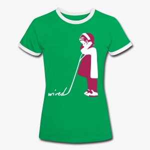 WIRED - Frauen-shirt (Retro) - Frauen Kontrast-T-Shirt