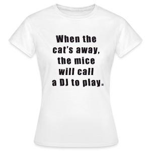 Cat basic TS Woman Black - Women's T-Shirt