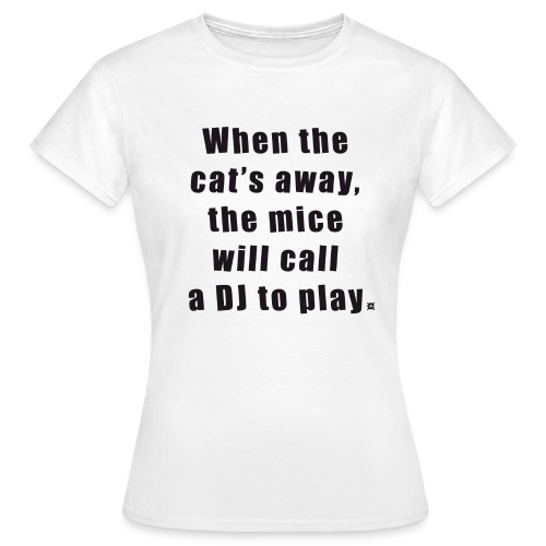 Cat basic TS Woman Black - Women's T-Shirt