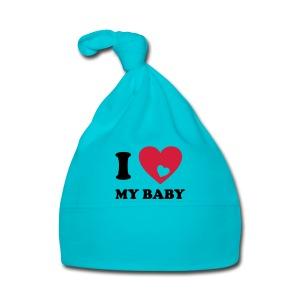 Baby Mutsje Blauw, I love my baby - Muts voor baby's