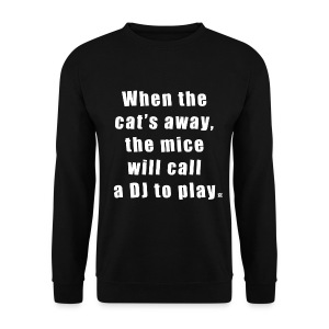 Cat LS Man White EN - Men's Sweatshirt