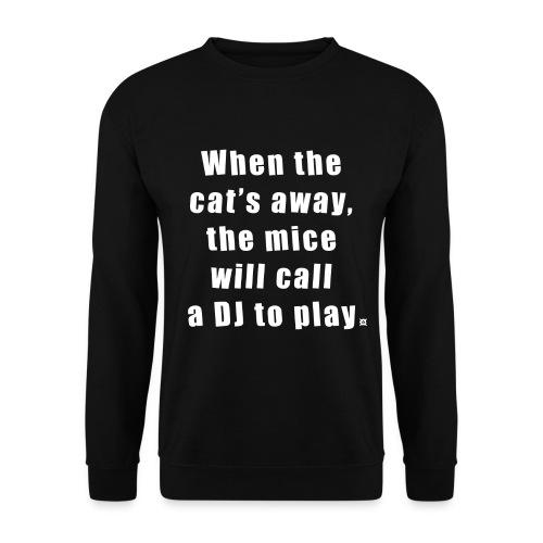 Cat LS Man White EN - Men's Sweatshirt