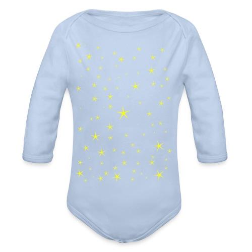Tähdet - Vauvan pitkähihainen luomu-body