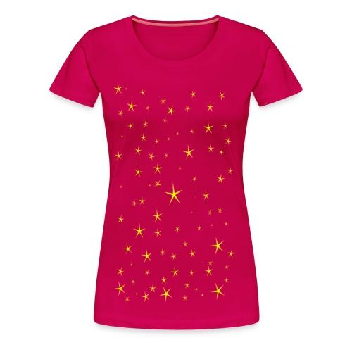 Tähdet - Naisten premium t-paita