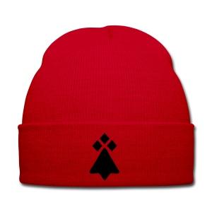 Bonnet rouge avec l'herminne - Bonnet d'hiver