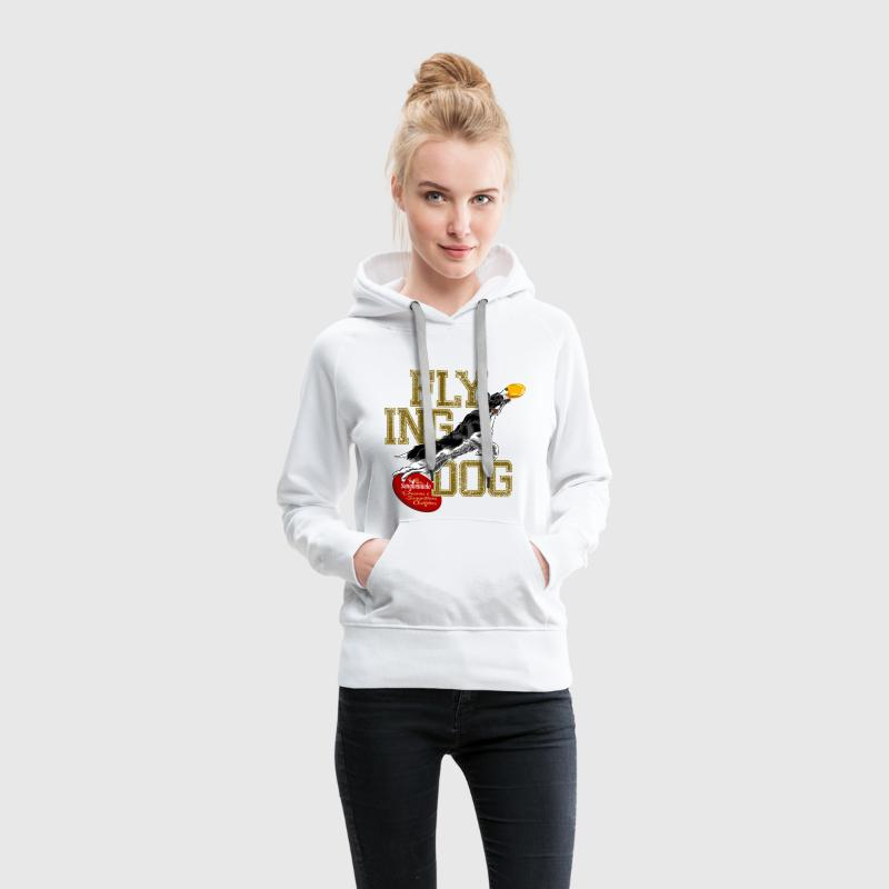 border collie disc dog Hoodies & Sweatshirts - Women's Premium Hoodie