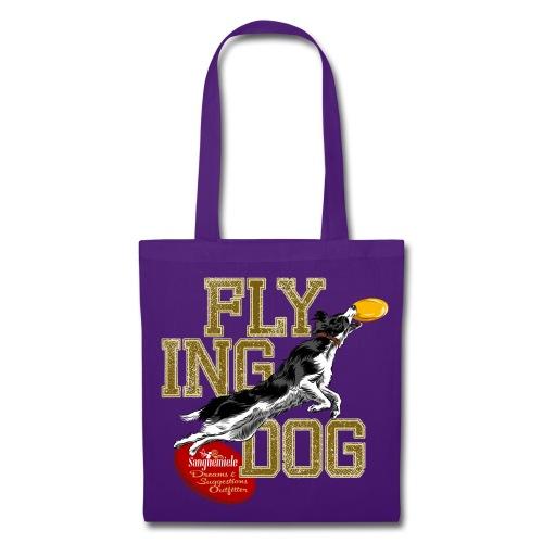 border collie disc dog - disc bag - Borsa di stoffa