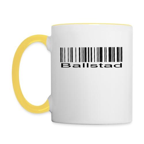 Tofarvet Krus Ballstad - Tofarget kopp