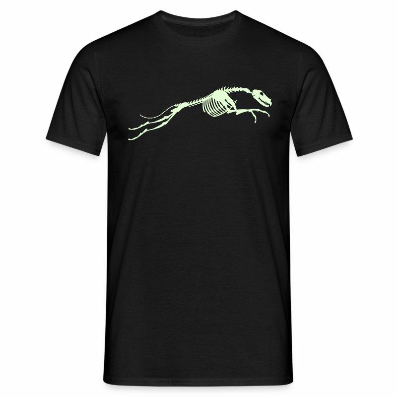 Juokse, Luuranko! - pimeässä hohtava - Miesten t-paita