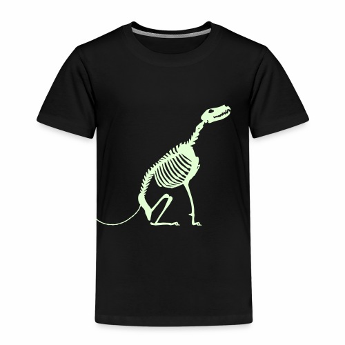 Istu, Luuranko!  - pimeässä hohtava - Lasten premium t-paita