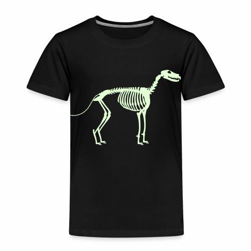 Paikka, Luuranko!  - pimeässä hohtava - Lasten premium t-paita