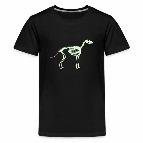 Paikka, Luuranko!  - pimeässä hohtava - Teinien premium t-paita