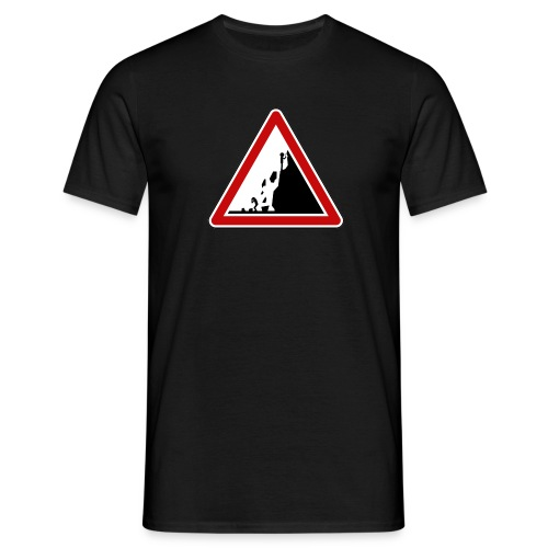 Rock fall warning - T-shirt Homme