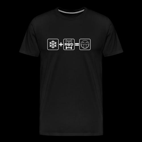 Snow + RWD = Fun - weißer Druck - Männer Premium T-Shirt