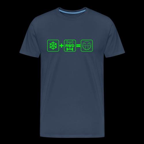 Snow + RWD = Fun - grüner Druck - Männer Premium T-Shirt