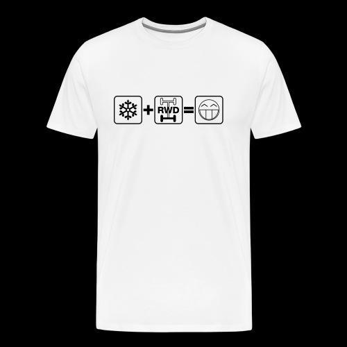 Snow + RWD = Fun - schwarzer Druck - Männer Premium T-Shirt
