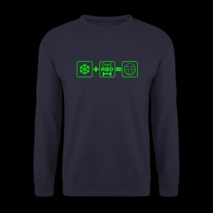 Snow + RWD = Fun - grüner Druck - Männer Pullover