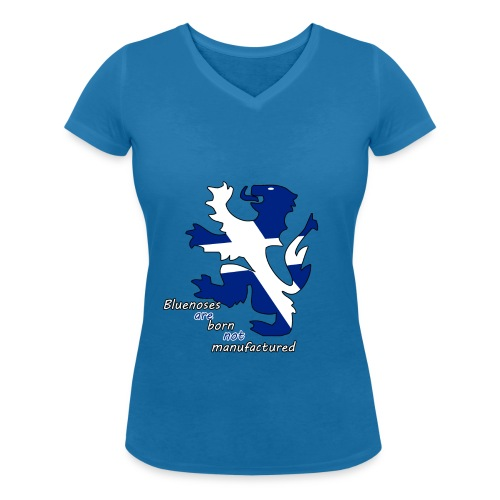 Bluenoses are born m,ens t shirt  - Women's Organic V-Neck T-Shirt by Stanley & Stella