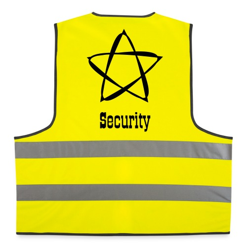 Dornen Pentagram Stern Heavy Metal Security Tribal - Warnweste