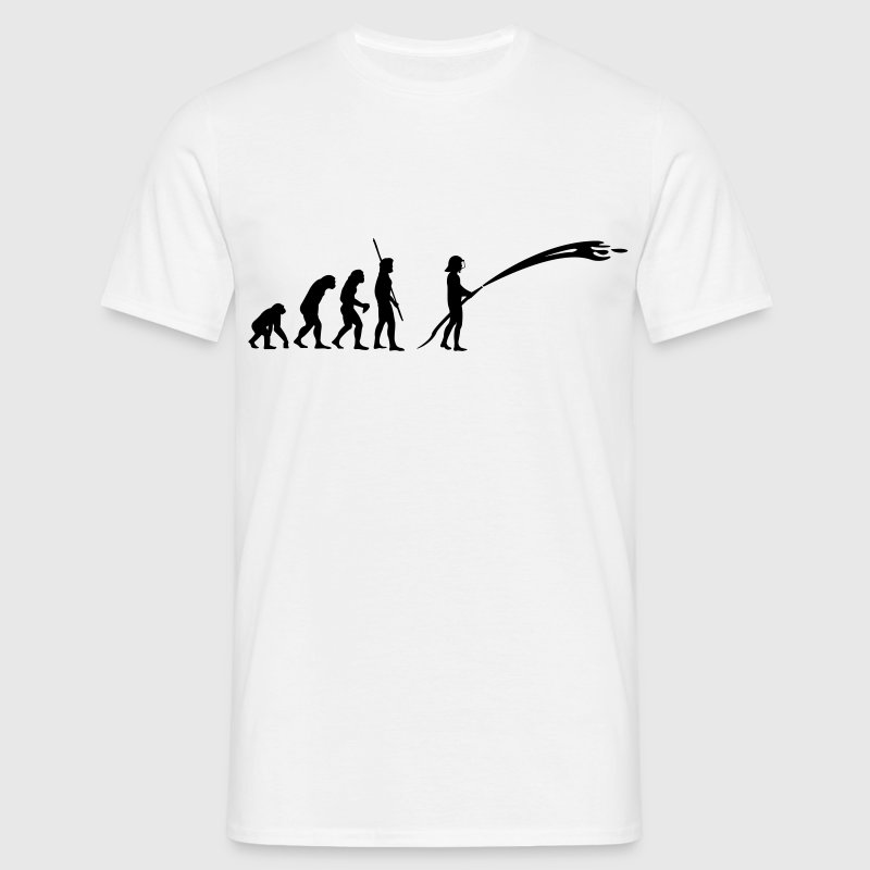 Evolution brandmand  T-shirts - Herre-T-shirt