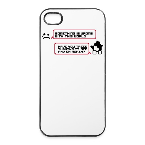 Womething wrong turning it off smartphone - Coque rigide iPhone 4/4s