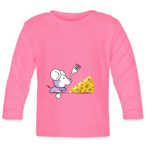 Camiseta Ratón y queso - Camiseta manga larga bebé
