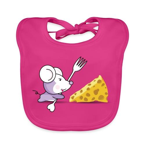Babero Ratón y queso - Babero ecológico bebé