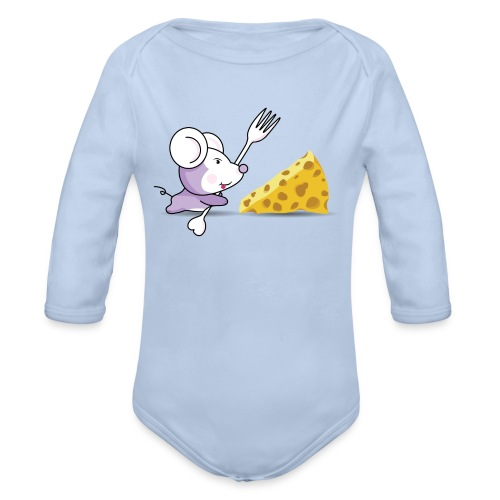 Body Ratón y queso - Body orgánico de manga larga para bebé