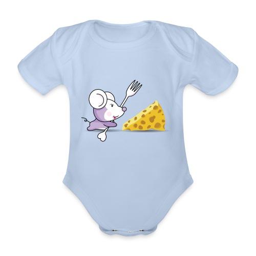 Body Ratón y queso - Body orgánico de maga corta para bebé