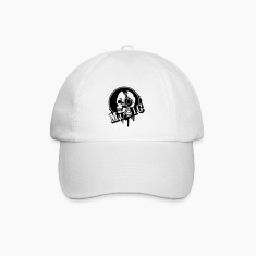 A skull with headphone in profile Caps & Hats