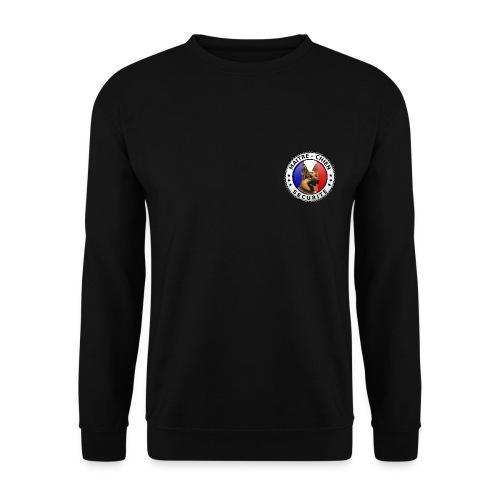 Ecusson rond Maitre-chien Sécurité Berger allemand - Sweat-shirt Homme