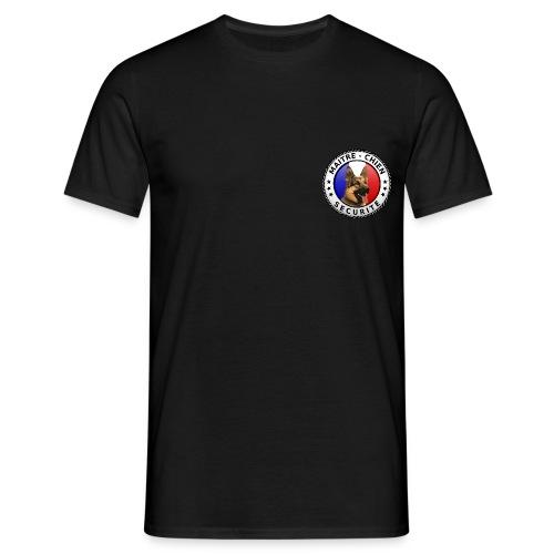 Ecusson rond Maitre-chien Sécurité Berger allemand - T-shirt Homme