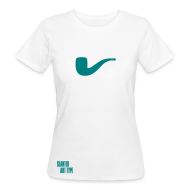 T-Shirts ~ Frauen Bio-T-Shirt ~ Slanted – Art Type / White Bio / Woman