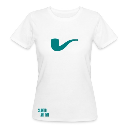 Slanted – Art Type / White Bio / Woman - Frauen Bio-T-Shirt