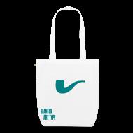 Taschen & Rucksäcke ~ Bio-Stoffbeutel ~ Slanted – Art Type / White Bio / Totebag