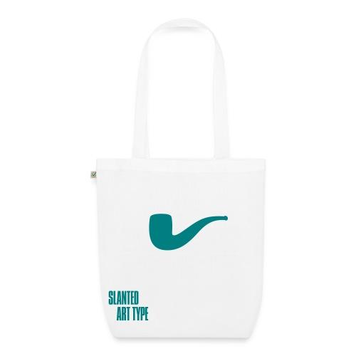 Slanted – Art Type / White Bio / Totebag - Bio-Stoffbeutel