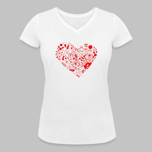 T-shirt Femme (woman) Science Heart - Women's Organic V-Neck T-Shirt by Stanley & Stella