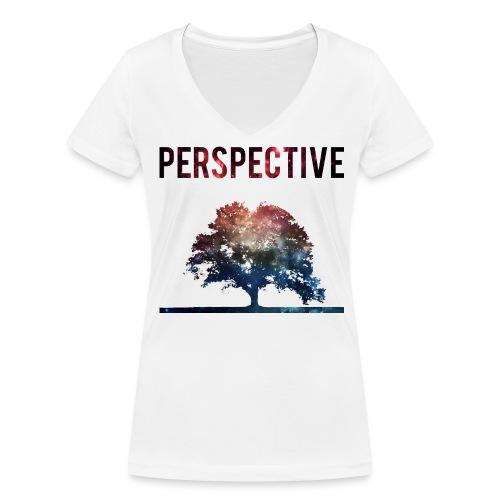 Galaxy Tree Ladies Tee - Ekologisk T-shirt med V-ringning dam från Stanley & Stella